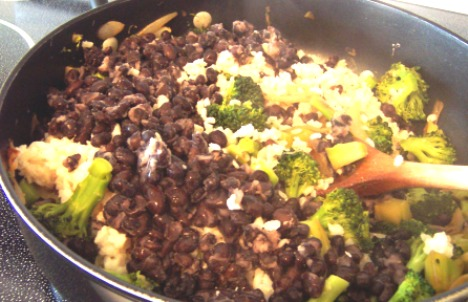 Broccoli Black Bean and Rice Curry