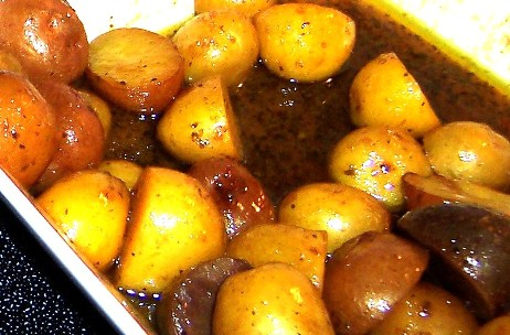 Potatoes Cooked in Spicy Broth