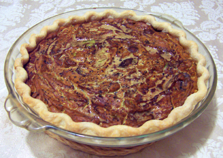 Cremini Mushroom and Onion Quiche