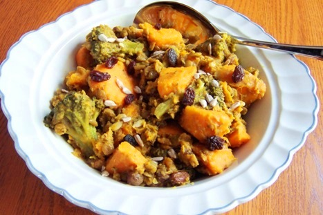 Healthy Sweet Potato Broccoli and Lentil Stew