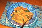 Veggie Chicken with Tomato Cream Sauce